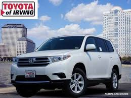 toyota highlander sales 2013 toyota highlander for sale in irving toyota of irving