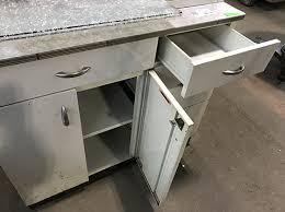 vintage glass front kitchen cabinets hof vintage metal kitchen hutch featured inventory