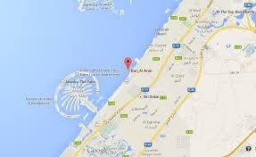 arab map where is burj al arab on map of dubai world easy guides