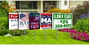 justyardsigns yard signs banners election real estate signs