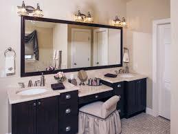 double sink bathroom vanity with makeup area bathroom vanities