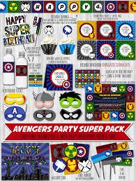 avengers invites avengers party printable decor pack u2013 wonderbash