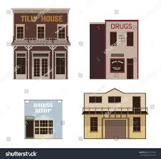 house textures set wild west western vector illustration stock vector 687141199