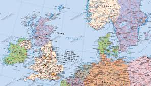 map uk ireland scotland map shows independent scotland as part of the european union in