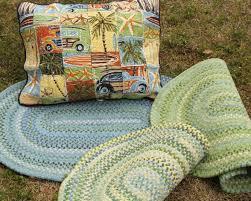 Beach House Rugs Green Cotton Braided Rug U2013 Beach House Linens