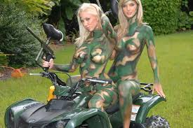 Female Camo Body Painting