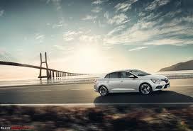 all new renault megane sedan unveiled team bhp