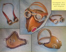 steampunk gasmask with goggles by noctiped on deviantart
