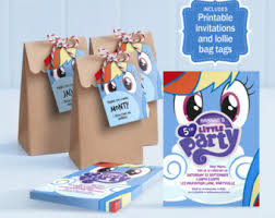 My Little Pony Gift Wrapping Paper - my little pony lollie bag tags printable loot bag tags my