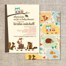 frog baby shower invitations baby shower invitation woodland creatures owls squirrels