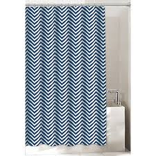 chevron shower curtain in navy bed bath u0026 beyond