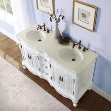 b1476 58 double sink vanity cream marfil marble top cabinet