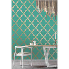 Teal And Brown Wall Decor Wall Decor Awesome Tempaper Wallpaper In Turquoise And Cute
