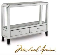 Mirror Console Table Montreal Mirrored Console Table With Drawers Katy Furniture