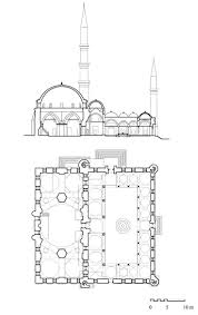 mosque floor plan architectural drawings floor plan and cross section archnet