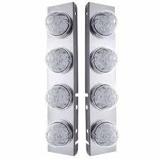 peterbilt air cleaner lights stainless steel front air cleaner lights fits peterbilt 379 389