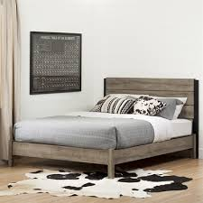 Platform Bed Canada South Shore Furniture Munich Platform Bed With Headboard Lowe S