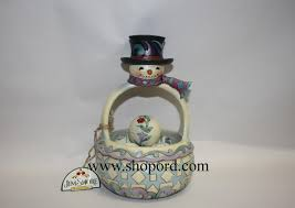 jim shore winters a set of 6 snowman basket with 5