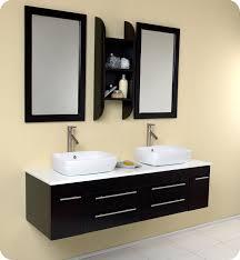 Modern Vanity Cabinets For Bathrooms Bellezza Espresso Modern Vessel Sink Bathroom Vanity
