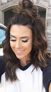 hair style ideas with slight wave in short 15 hairstyle ideas to inspire your half buns hair style makeup