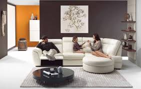 Modern Victorian Interior Design Deluxe Living Room With Tranquil Leather Sofa In White Accent And