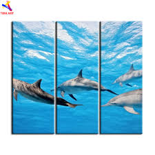 dolphin home decor aliexpress com buy unframed ocean dolphins picture wall art hd