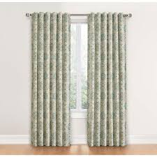 Waverly Curtain Panels Shop Waverly Astrid 84 In Spa Cotton Back Tab Single Curtain Panel
