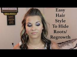 hairstyle to hide grey roots easy hairstyle to hide regrowth roots youtube