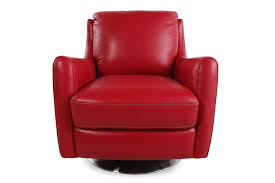Who Invented The Swivel Chair by La Z Boy Xavier Red Leather Swivel Chair Mathis Brothers Furniture