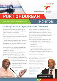 Seeking Durban Transnet Newsletter