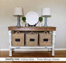 three mango seeds laundry room folding table