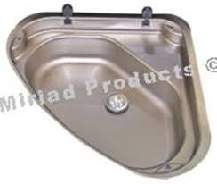 caravan sink with lid triangular stainless steel caravan sink 480x480 kitchen sinks and