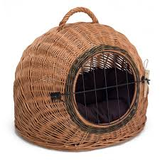Dog Igloos Wicker Pet Carrier Igloo Prestige Wicker
