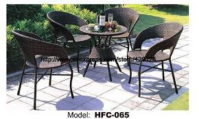 patio table with 4 chairs factory price modern design outdoor furniture garden set 60cm rattan