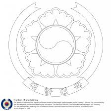 emblem of south korea image coloring page countries u0026 culture