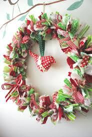 Handmade Fabric Crafts - handmade fabric wreath could make this myself