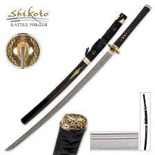 Katana Kitchen Knives United Cutlery Black Kogane Dynasty Forged Katana Sword Damascus