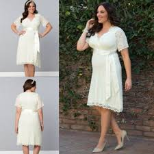 the amazing wedding dresses plus size knee length intended for