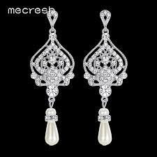 Chandelier Pearl Earrings For Wedding Online Get Cheap Chandelier Pearl Earrings For Wedding Aliexpress