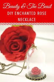 beauty u0026 the beast enchanted rose necklace enchanted rose rose