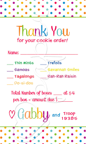 Order Cookies Scout Cookie Thank You Clipart 83