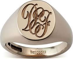Gold Monogram Rings Rose Gold Signet Ring Rose Gold Family Crested Signet Rings