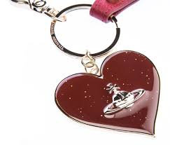 red key rings images Vivienne westwood mirror heart key ring in red i vivienne westwood jpg
