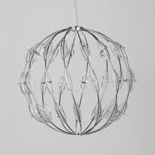 Sphere Ceiling Light by Core 14 Light Ball Ceiling Pendant Chrome From Litecraft