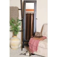Free Standing Full Length Mirror Jewelry Armoire Furniture Silver Full Length Mirror With Jewelry Storage With