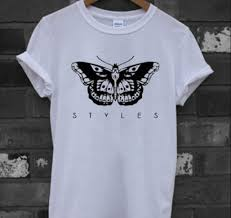 harry styles butterfly t shirt on the hunt