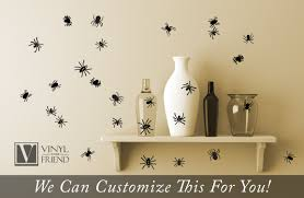 halloween wall stickers spider pack of 24 spiders for halloween home decor vinyl decal