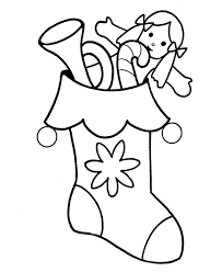 packed christmas stocking coloring download