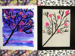 cherry blossom tree cassie stephens in the art room cherry blossom trees by second grade