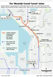 Seattle Light Rail Future Map by Second Bus Tunnel Proposed Downtown The Seattle Times